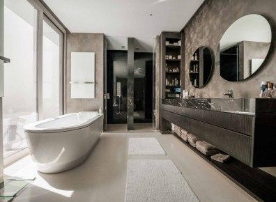 Badezimmerschränke Riffelfront Eiche