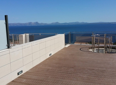 WPC profile roof terrace