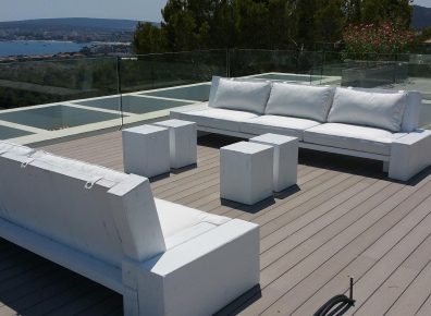 Seating group spruce white