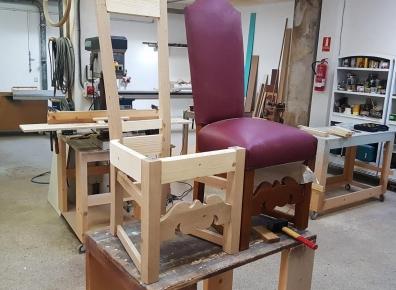 Stühle Eiche antik Nachbau