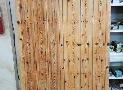Entrance door spruce antique restored