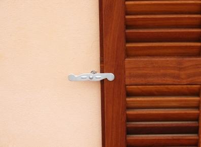 Folding shutters Iroko