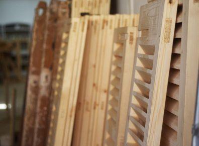 Wood shutters spruce